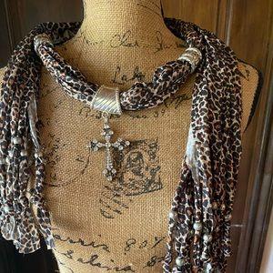 Leopard Scarf - Necklace- Belt (3 in 1)